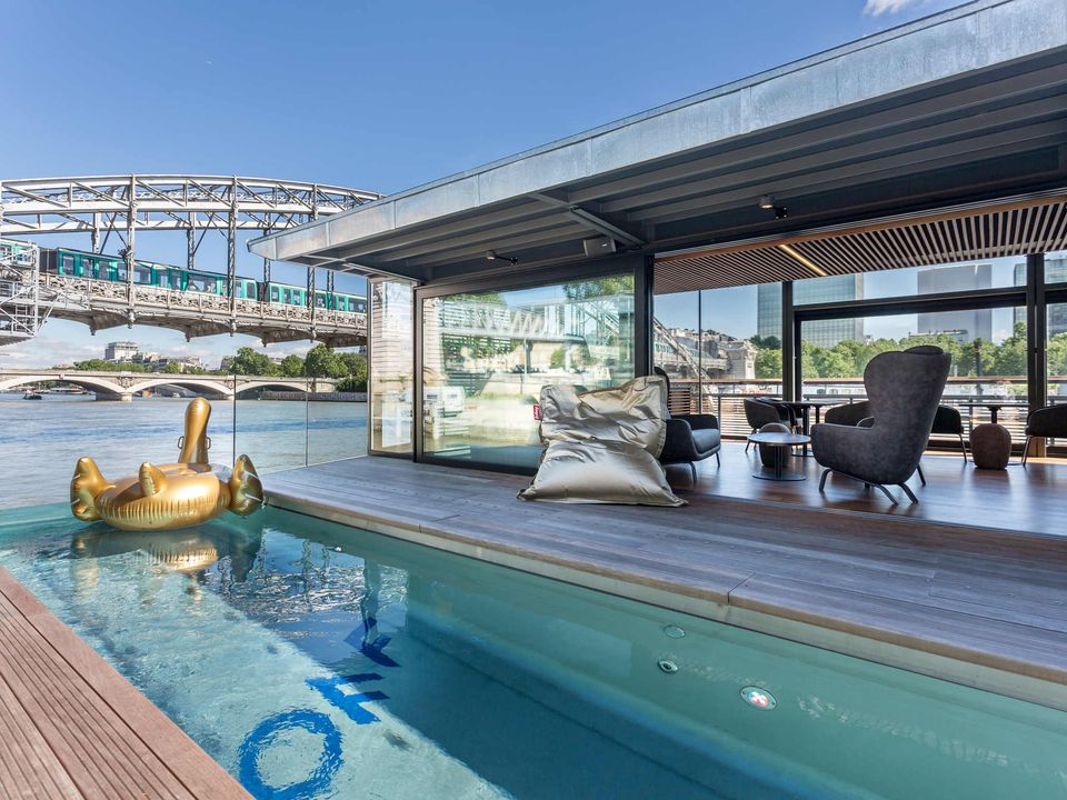 OFF Paris Seine is a floating river hotel situated on the Seine River.