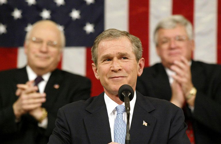 President George Bush Announces the Axis of Evil