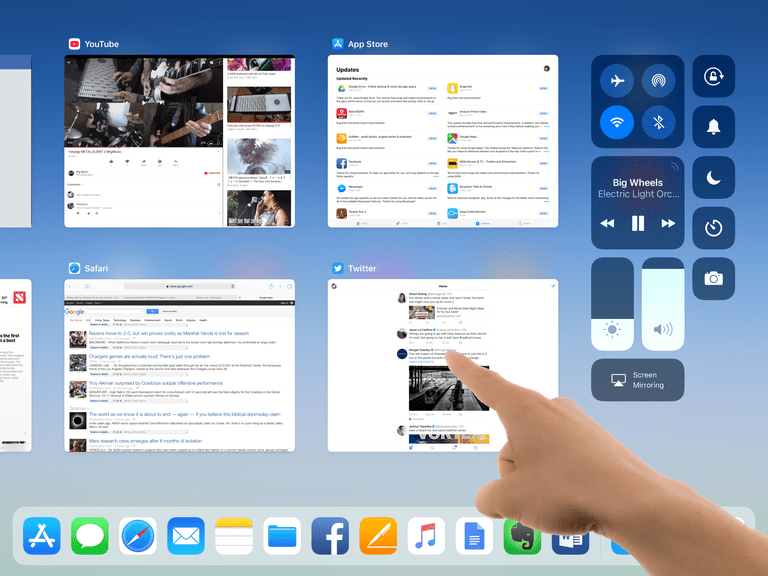 how to close an open app in ipad
