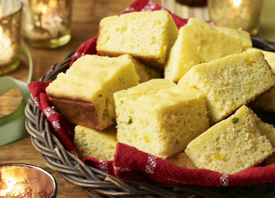 Mexican Cornbread with Corn and Peppers