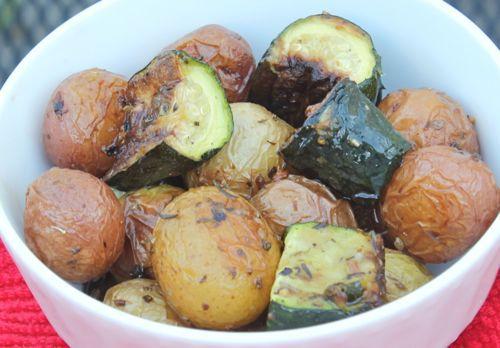Roasted Zucchini and Potatoes