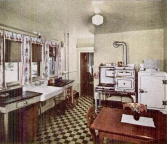 Kitchens from the 1930s and 1940s for Interior design styles 20th century