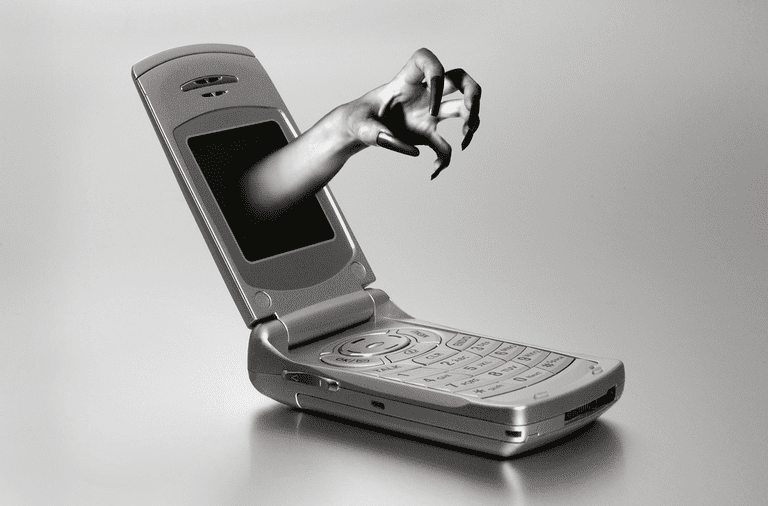 Scary looking cell phone