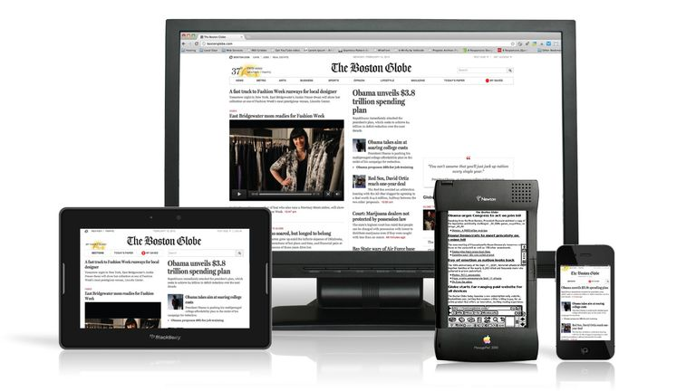 The Boston Globe on multiple mobile devices
