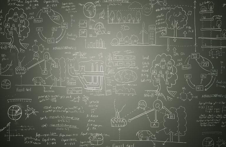 Math Problems on a Chalk Board