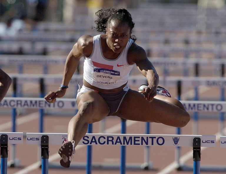 Olympian Gail Devers, famous thyroid patient