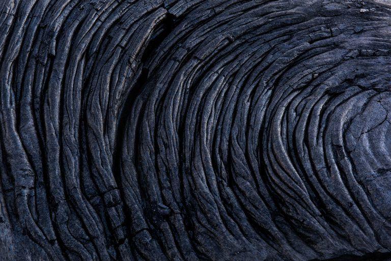 Dramatic Pa-Hoe-Hoe basalt lava field in Kalapana, Hawaii