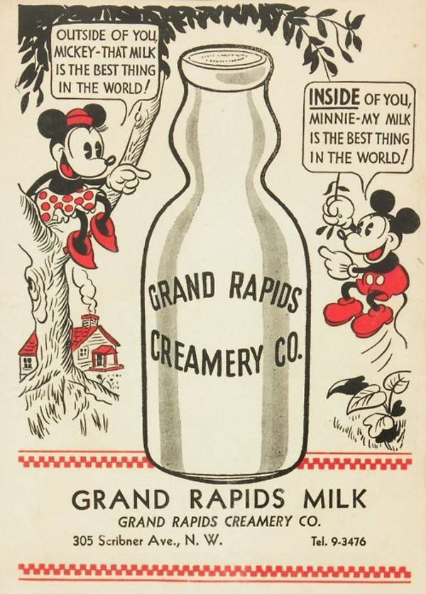 Mickey Mouse Milk Ad