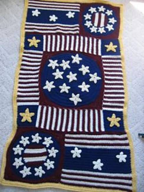 Stars and Stripes Afghan Free Crochet Pattern