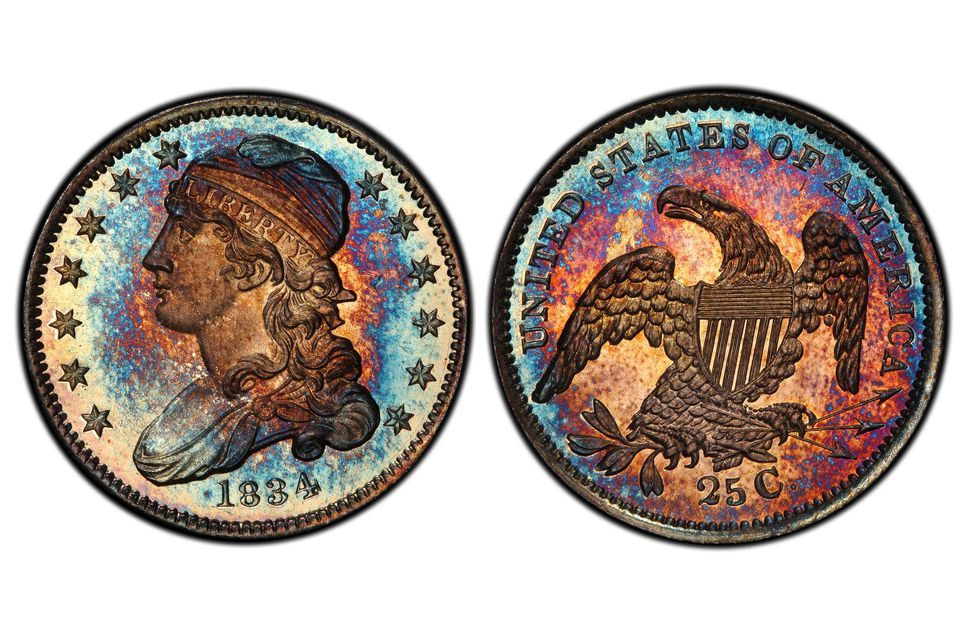 1834 Proof Capped Bust Quarter