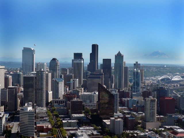 Downtown Seattle Skyline from Top of the Space Needle