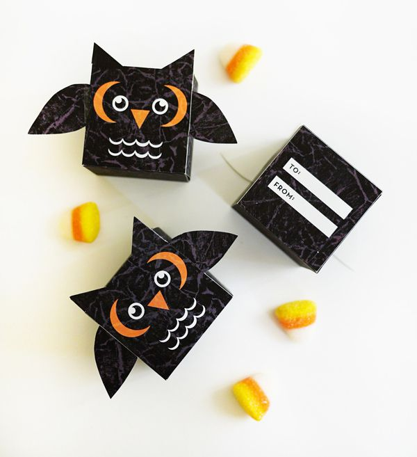 DIY Printable Owl Treat Box