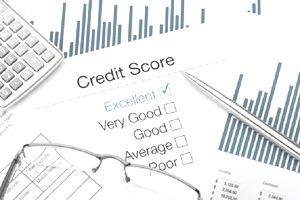 a printout of a credit score