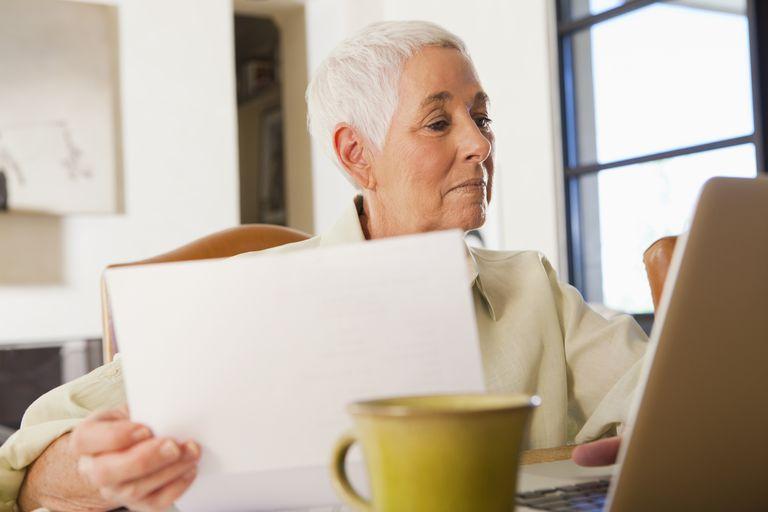 Woman reviewing paperwork