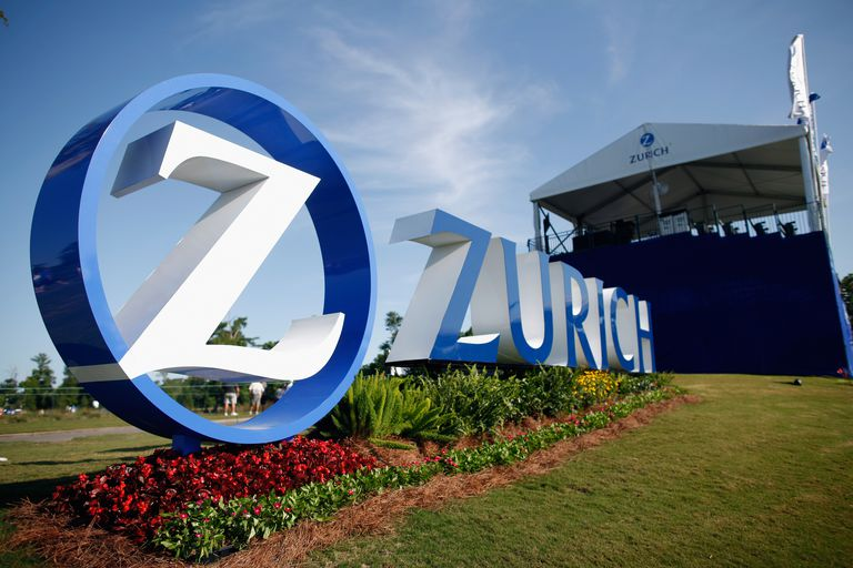 Zurich sign at the PGA Tour tournament