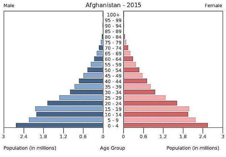 Afghanistan Age-Sex Pyramid