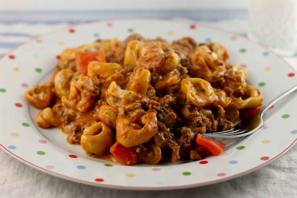 Baked Tortellini with Three Sauces