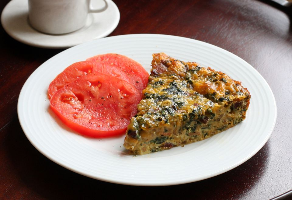Crustless Quiche Recipe With Chard and Bacon