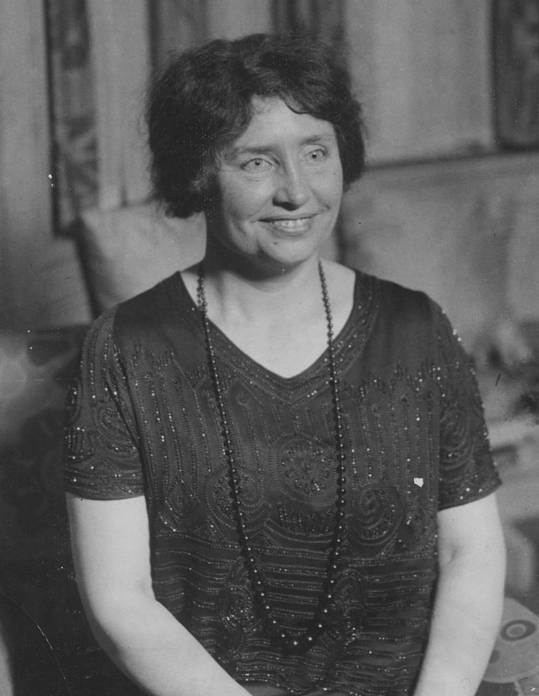A picture of Helen Keller.
