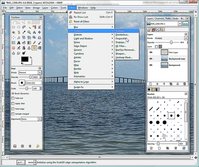 The GIMP Screen Shot