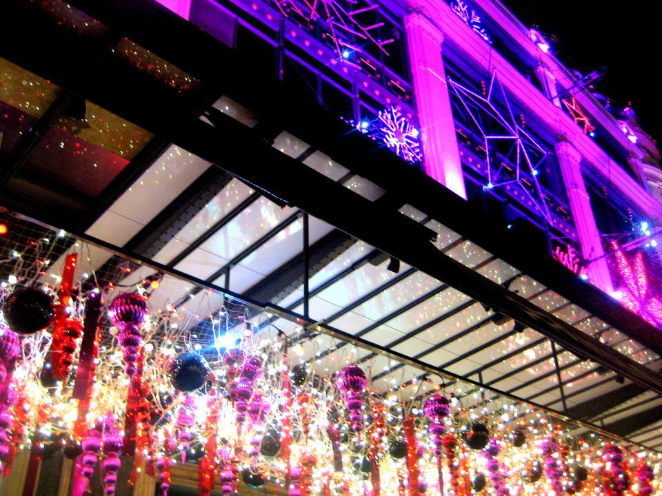Printemps department store in Paris dressed for the holiday season in 2009.