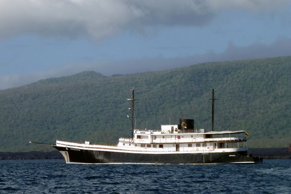 The 32-passenger M/V Evolution of Quasar Expeditions sails the Galapagos Islands year-round.