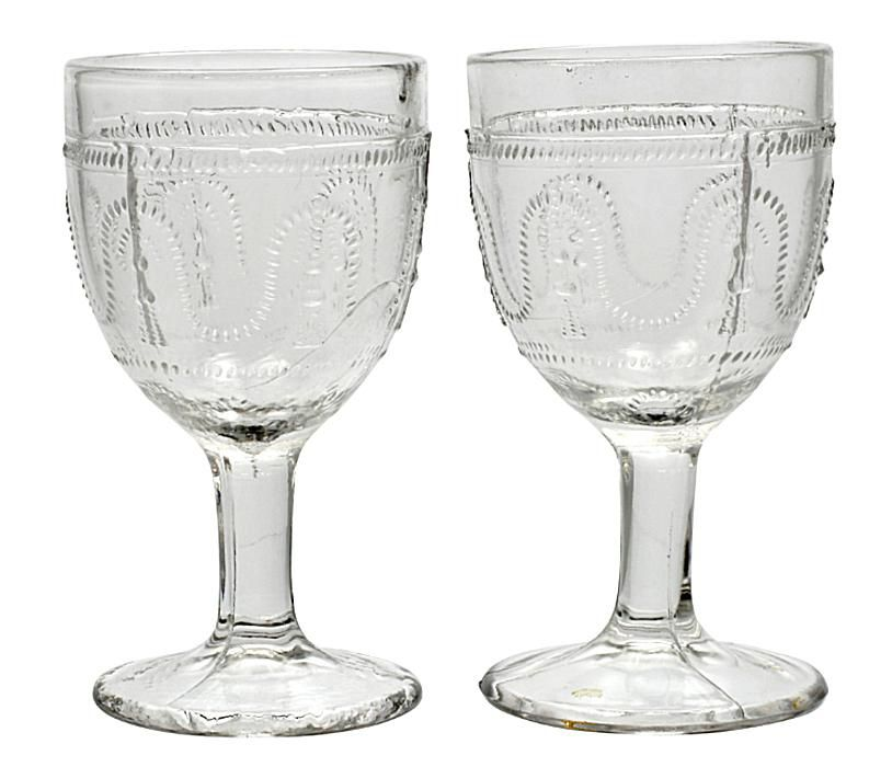 Early American Pattern Glass Goblets
