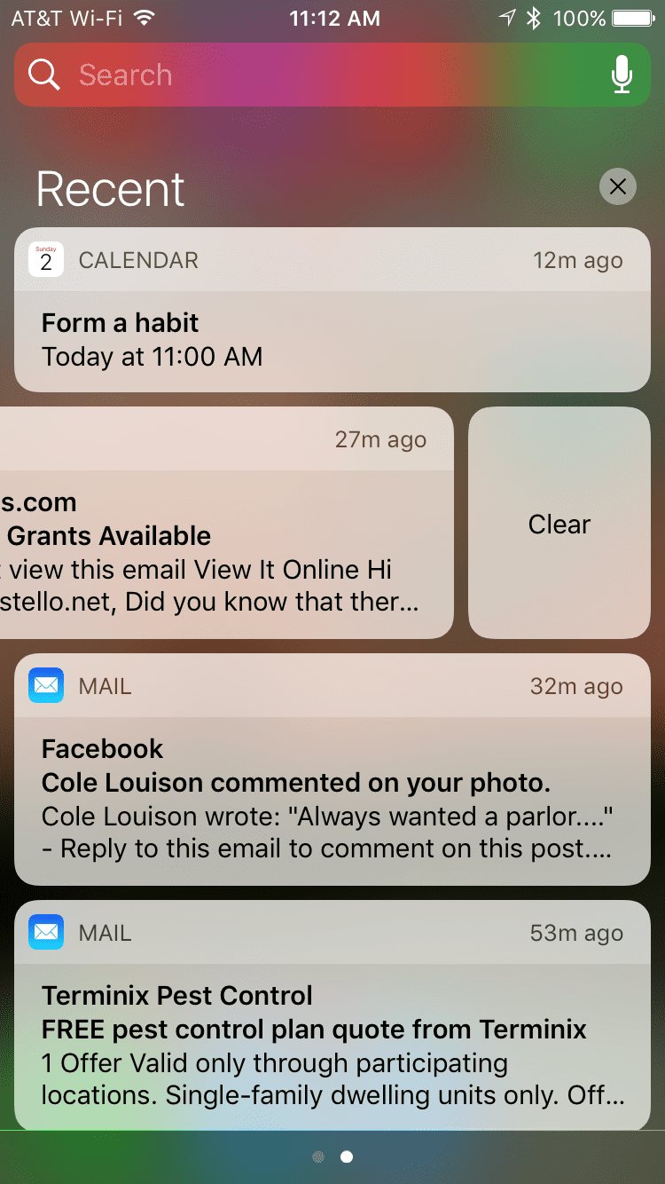 notification center iphone how to use notification center on iphone 12723