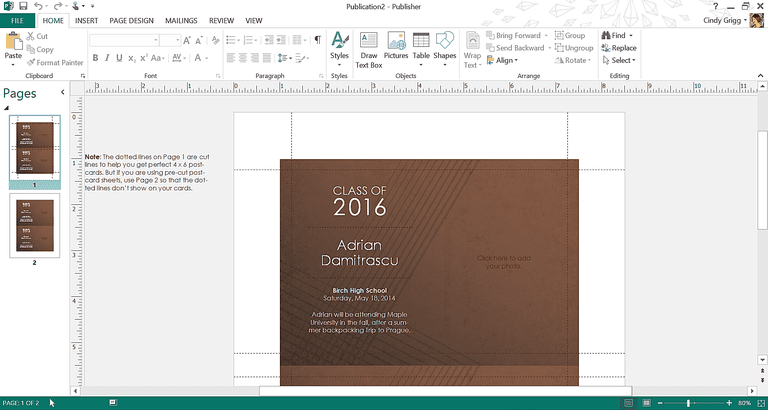 Get microsofts best graduation templates elegant brown graduation template or printable for microsoft publisher filmwisefo Gallery