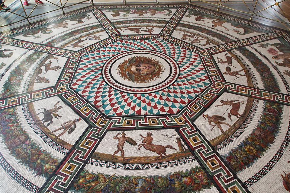 Russia, Saint Petersburg, State Hermitage Museum, Winter Palace, Mosaic