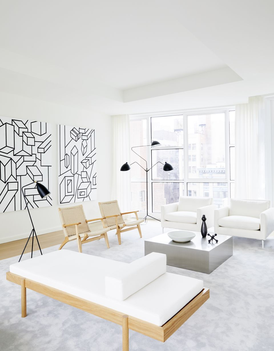 Ultra modern living room by ASH NYC