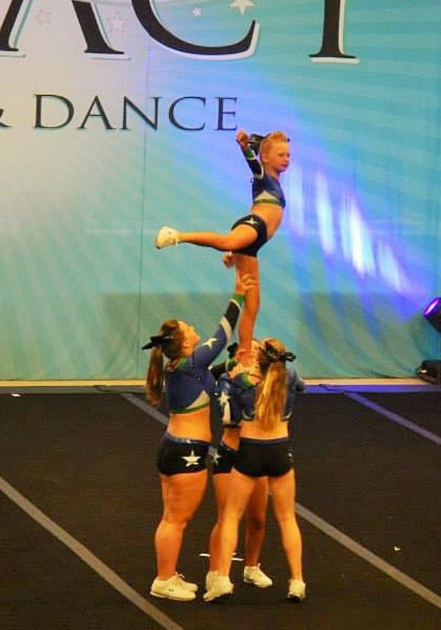 Level 2 Cheerleading Arabesque Stunt