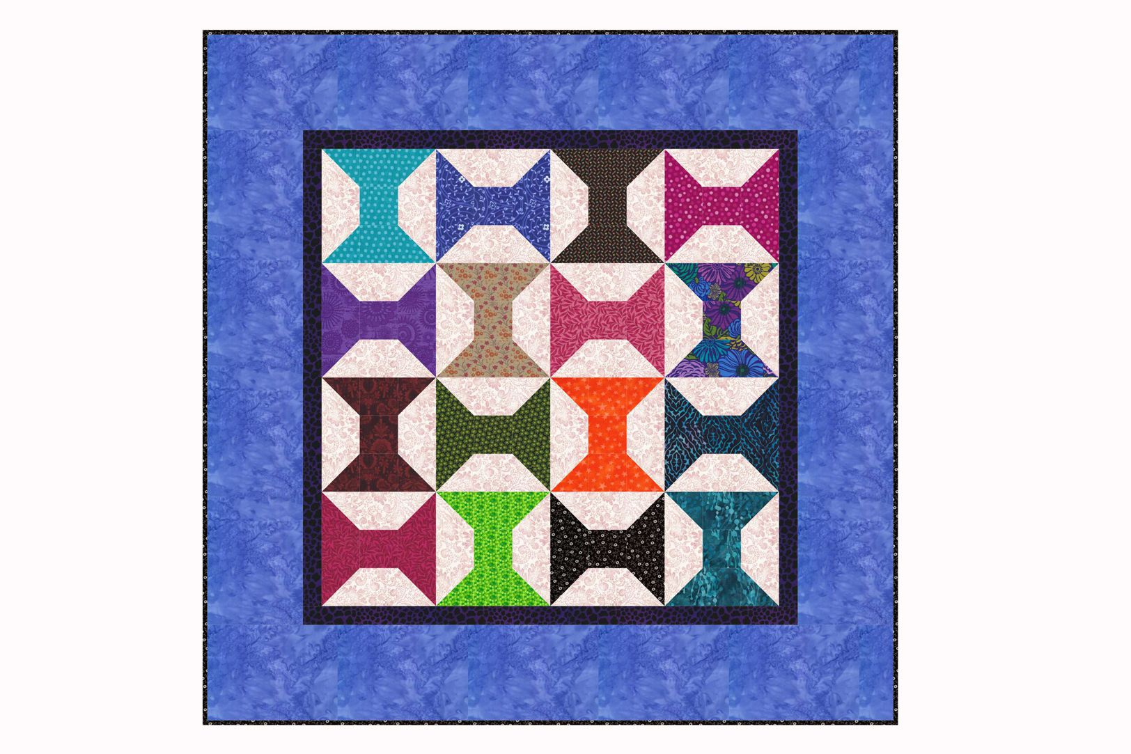 Small spools quilt pattern in two sizes for Thread pool design pattern