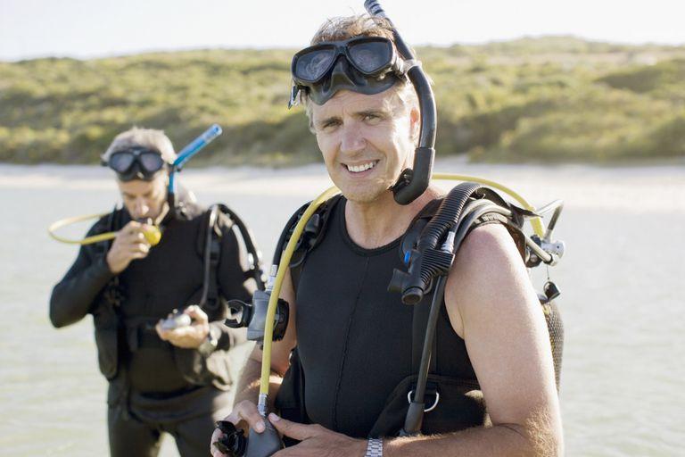 Male Scuba Divers, Oxygen Toxicity, Enriched Air Nitrox