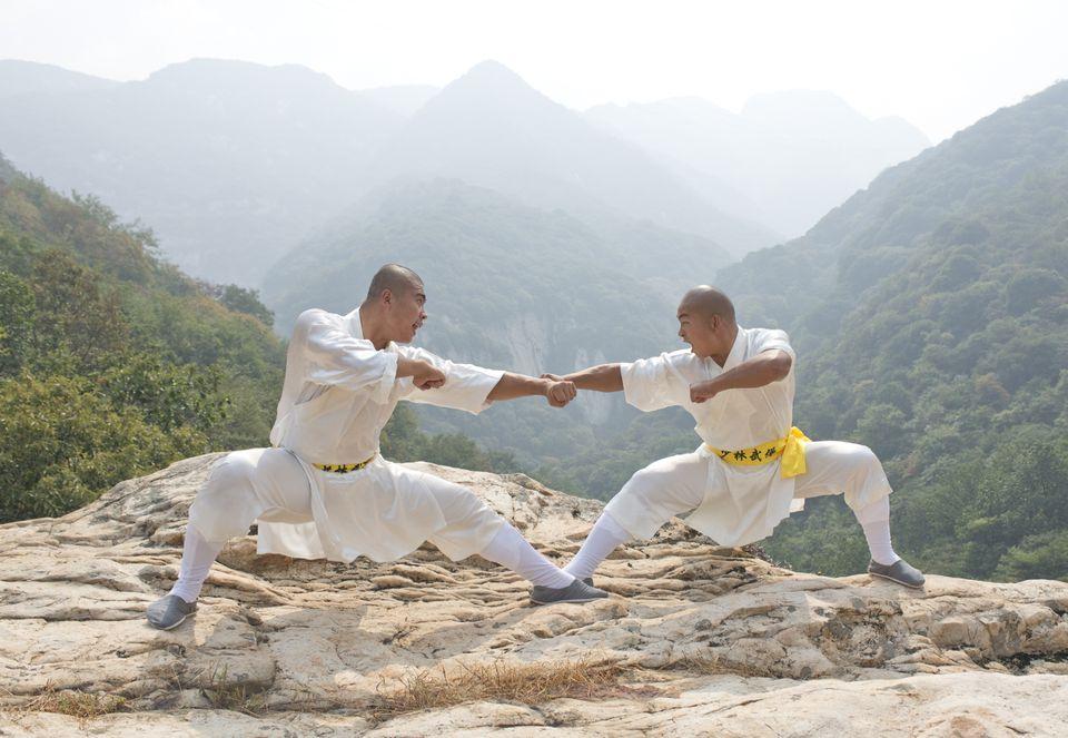 Shaolin monks at Mt. Song