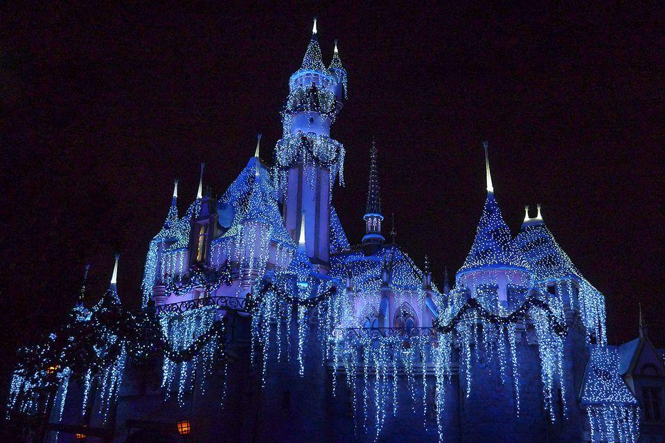 Disneyland's Castle in Winter