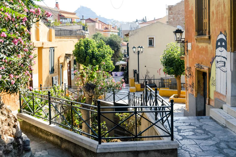 Plaka Neighborhood in Athens, Greece