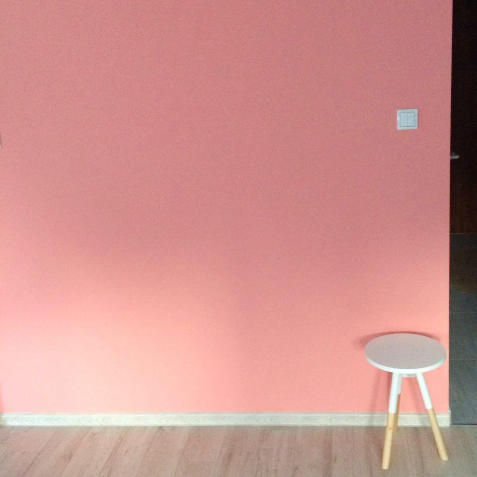 Millennial pink wall