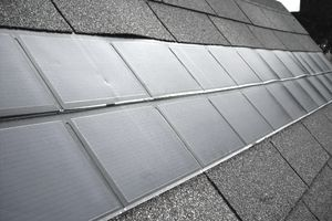 solar shingles on a roof