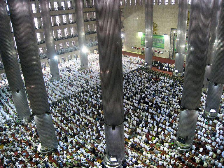 Eid al-Fitr mass prayer in Istiqlal Mosque, Jakarta, Indonesia