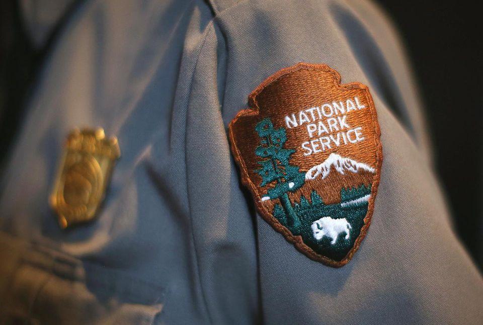 National Park Service patch on uniform