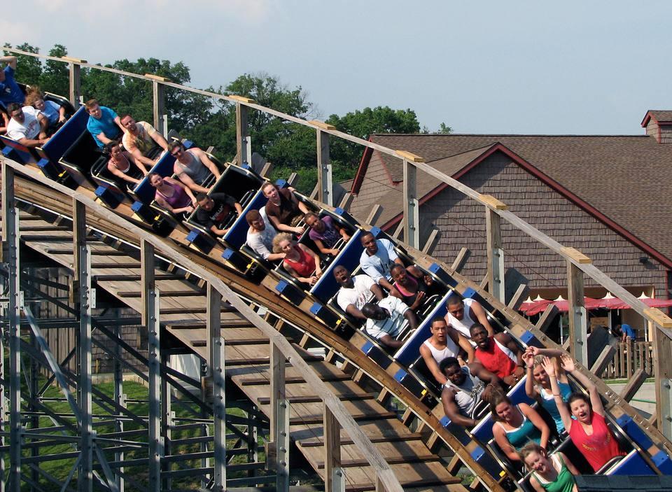 The Voyage coaster at Holiday World.