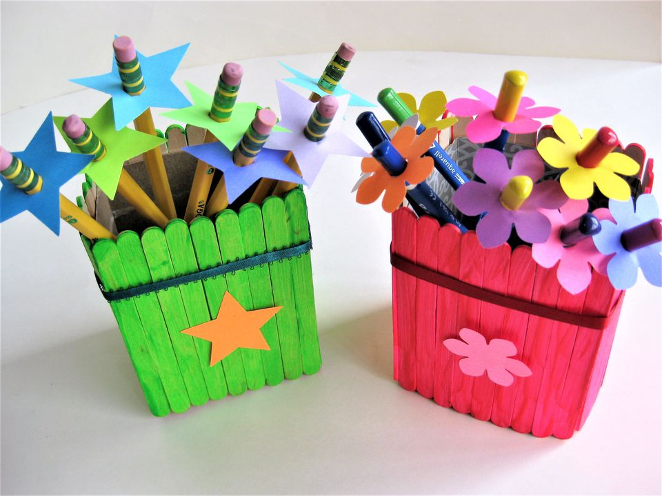 Back-to-School Pencil Holders and Pencil Toppers Craft