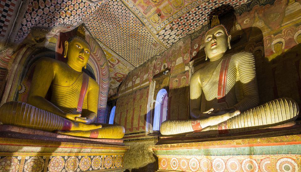 Dambulla cave temple - Buddha statues, Sri Lanka