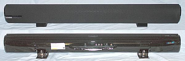 Hitachi HSB40B16 Sound Bar - Front and Rear View