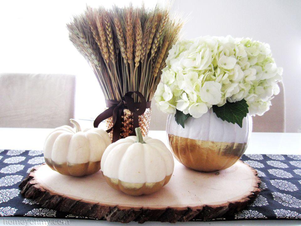 DIY Dip Dyed Pumpkin Vase