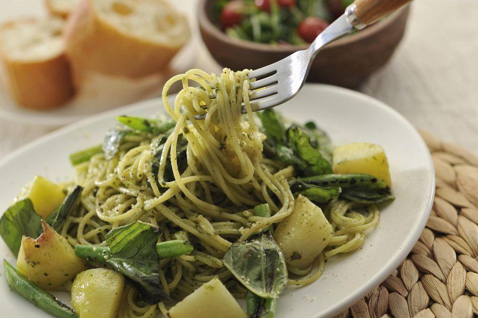 Vegan Basil Pasta