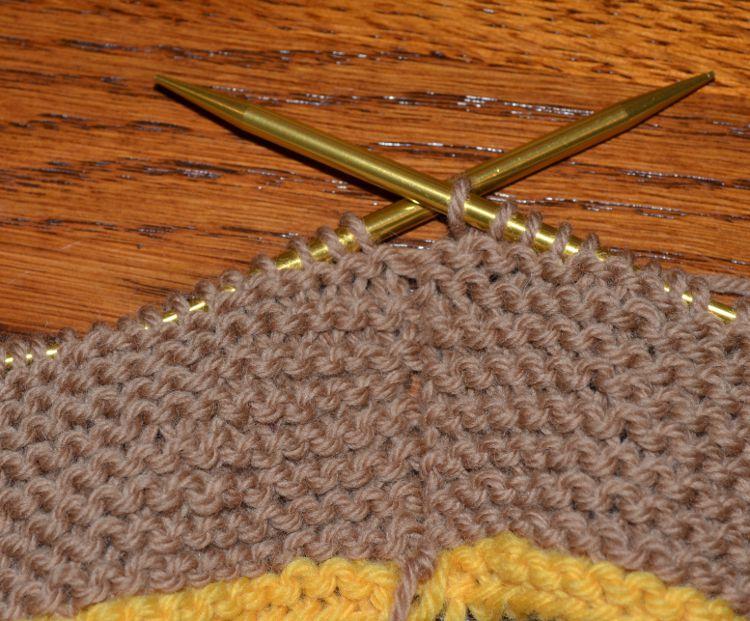 garter stitch in the round