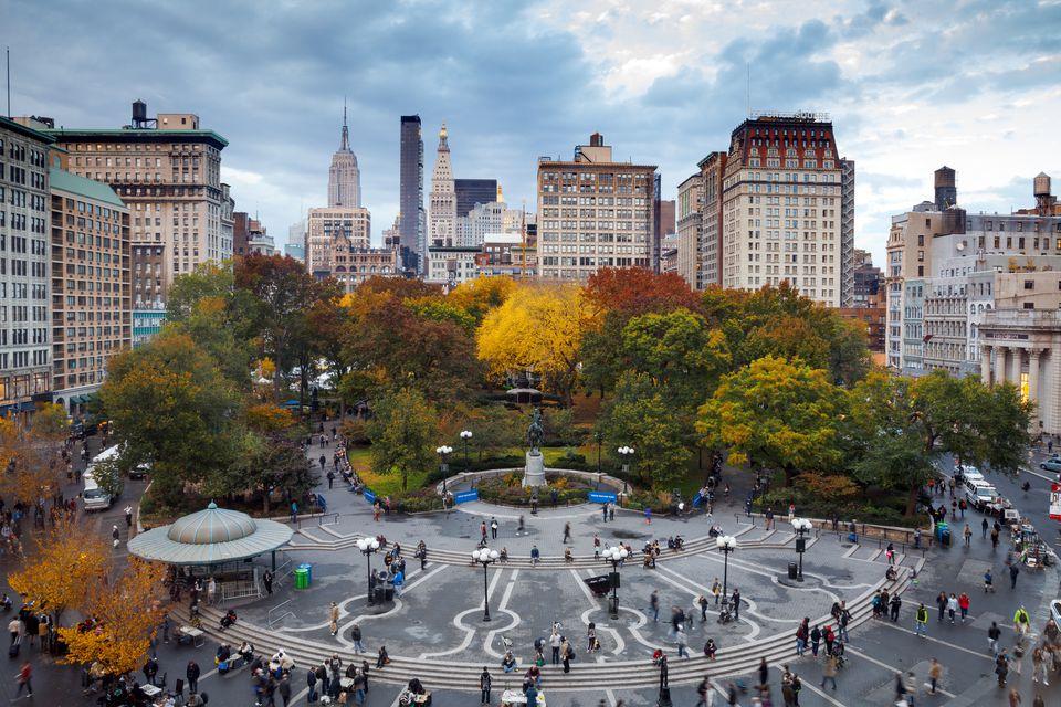 Union Square, Manhattan in Autumn