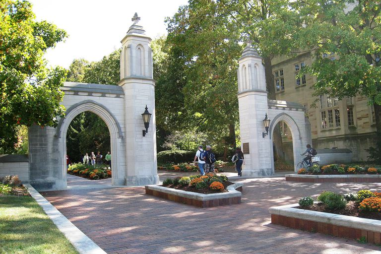 Sample Gates at Indiana University Bloomington